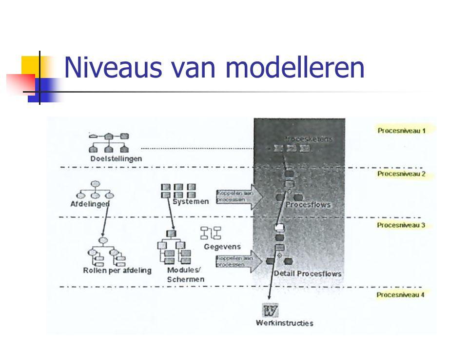 Niveaus van modelleren