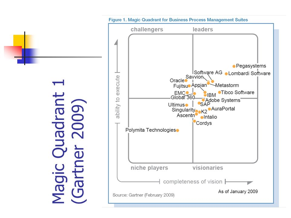 Magic Quadrant 1 (Gartner 2009)