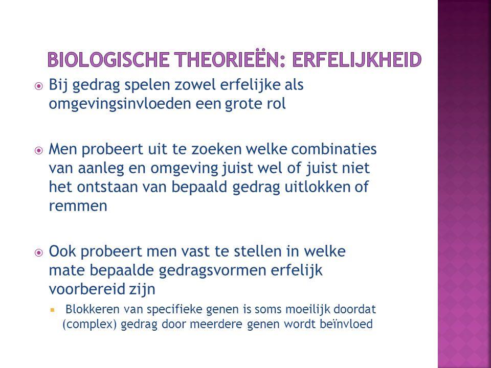 Biologische theorieën: erfelijkheid