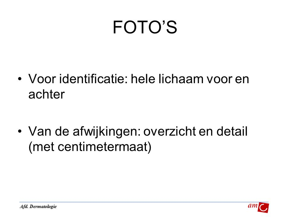 FOTO'S Voor identificatie: hele lichaam voor en achter