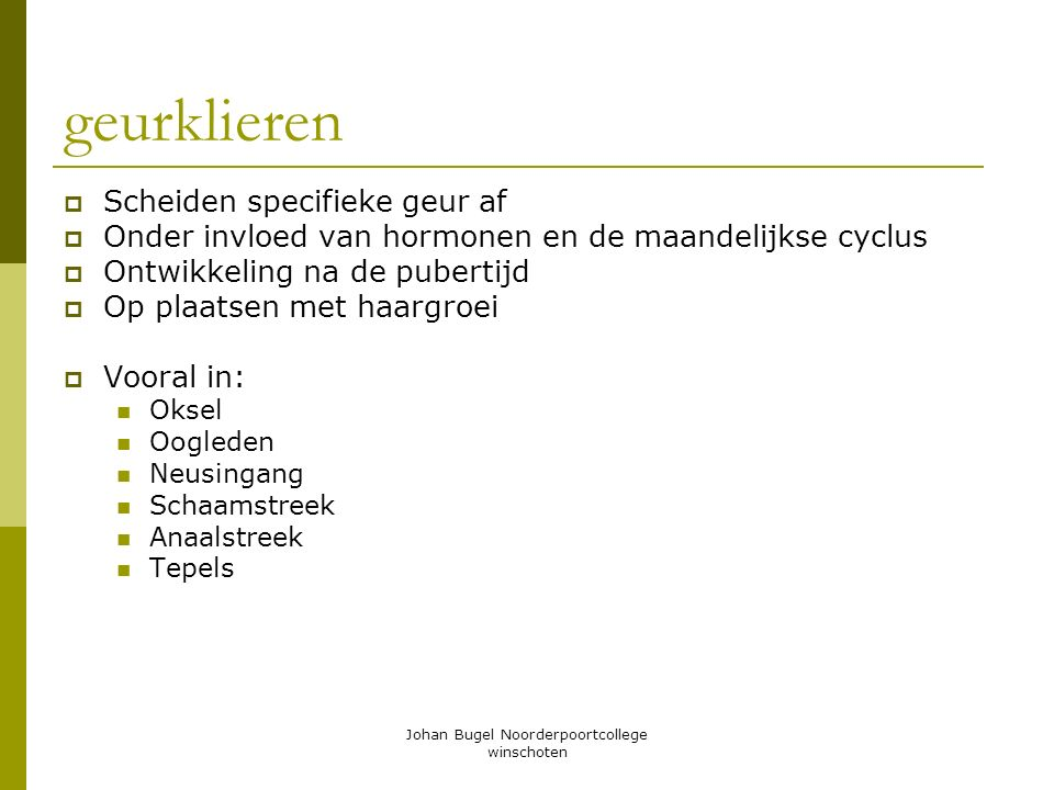 Johan Bugel Noorderpoortcollege winschoten