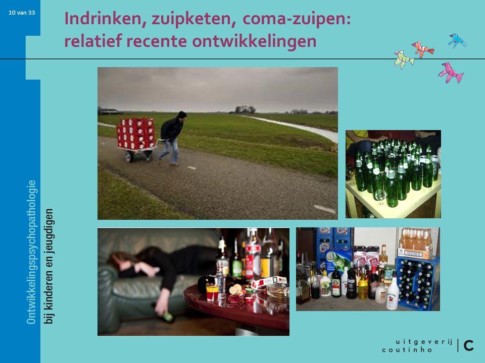 Indrinken, zuipketen, coma-zuipen: relatief recente ontwikkelingen