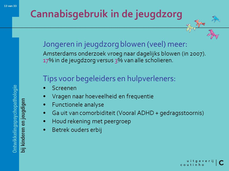 Cannabisgebruik in de jeugdzorg