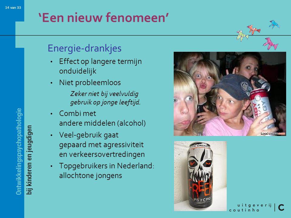 'Een nieuw fenomeen' Energie-drankjes