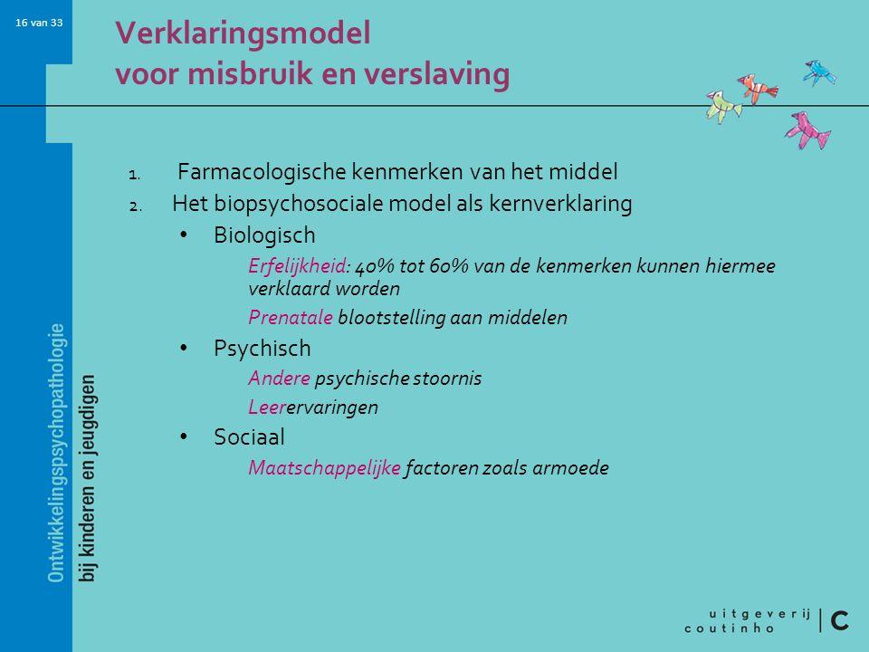 Verklaringsmodel voor misbruik en verslaving