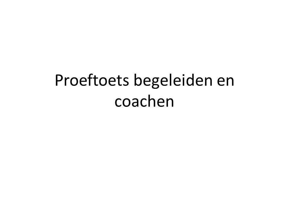 Proeftoets begeleiden en coachen