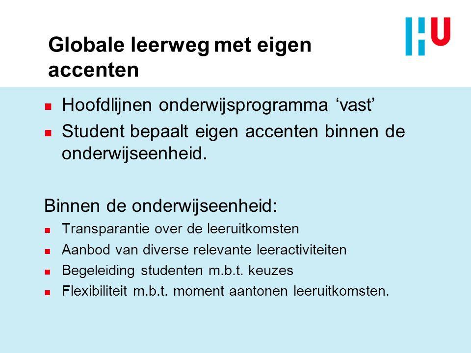 Globale leerweg met eigen accenten