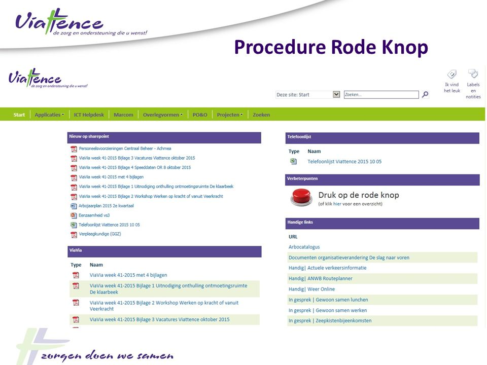 Procedure Rode Knop