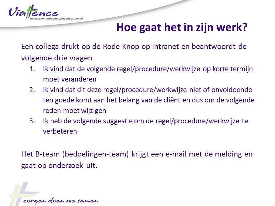 De rode knop van viattence ppt video online download - Hoe de studio te verbeteren ...