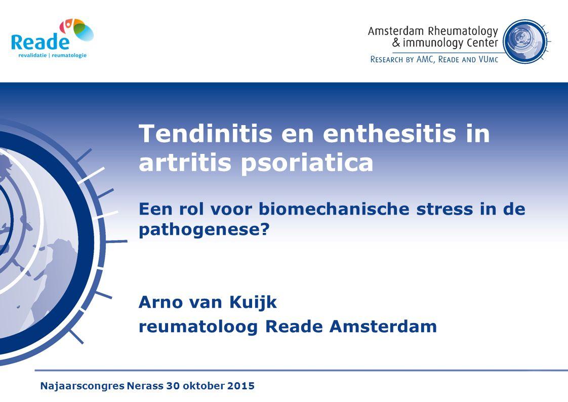 Tendinitis en enthesitis in artritis psoriatica