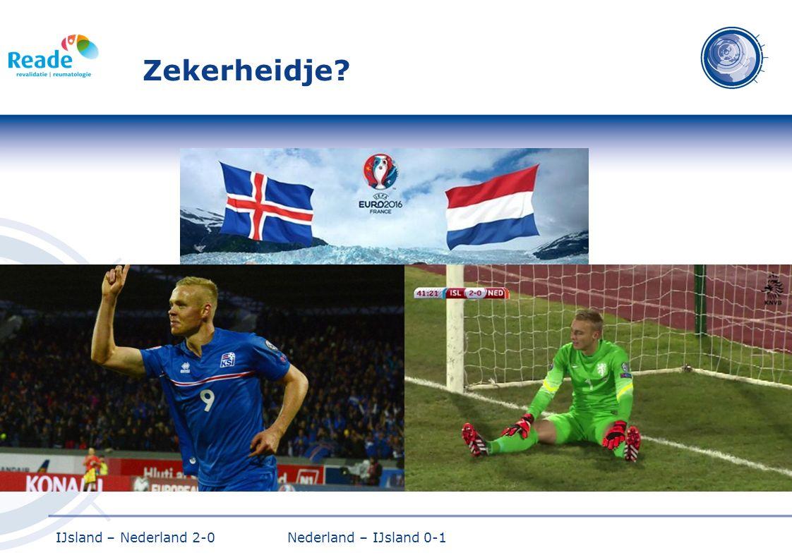 Zekerheidje IJsland – Nederland 2-0 Nederland – IJsland 0-1
