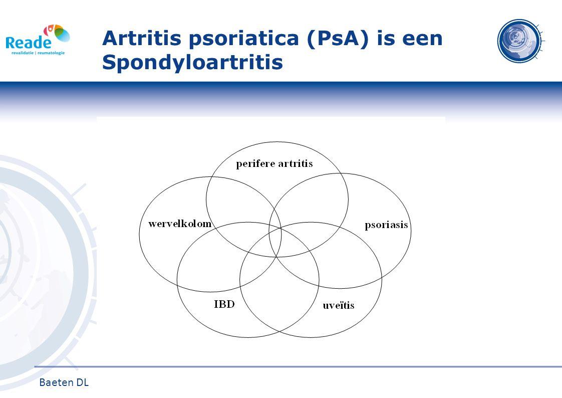 Artritis psoriatica (PsA) is een Spondyloartritis