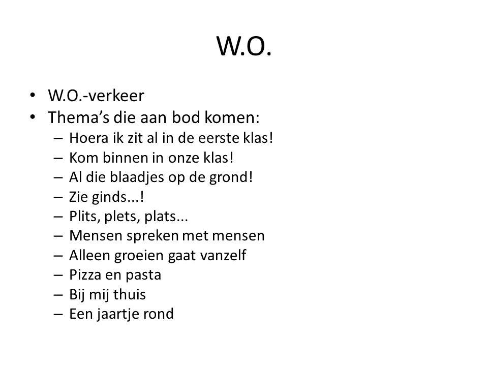 W.O. W.O.-verkeer Thema's die aan bod komen: