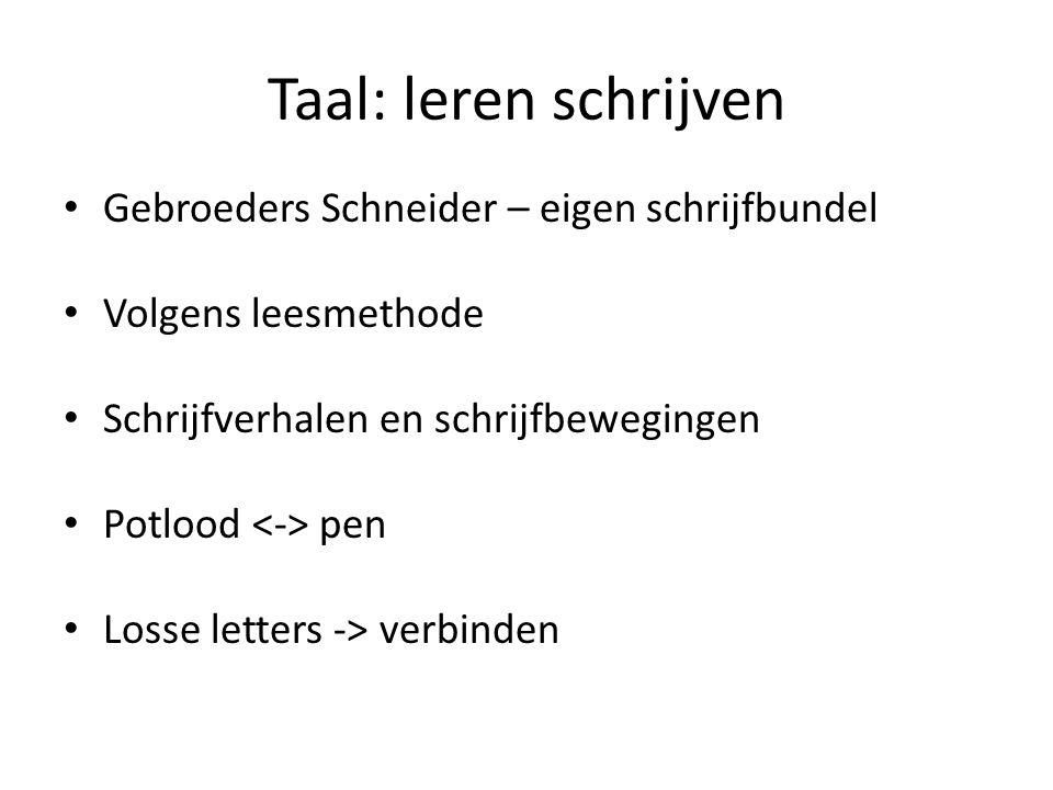 Taal: leren schrijven Gebroeders Schneider – eigen schrijfbundel