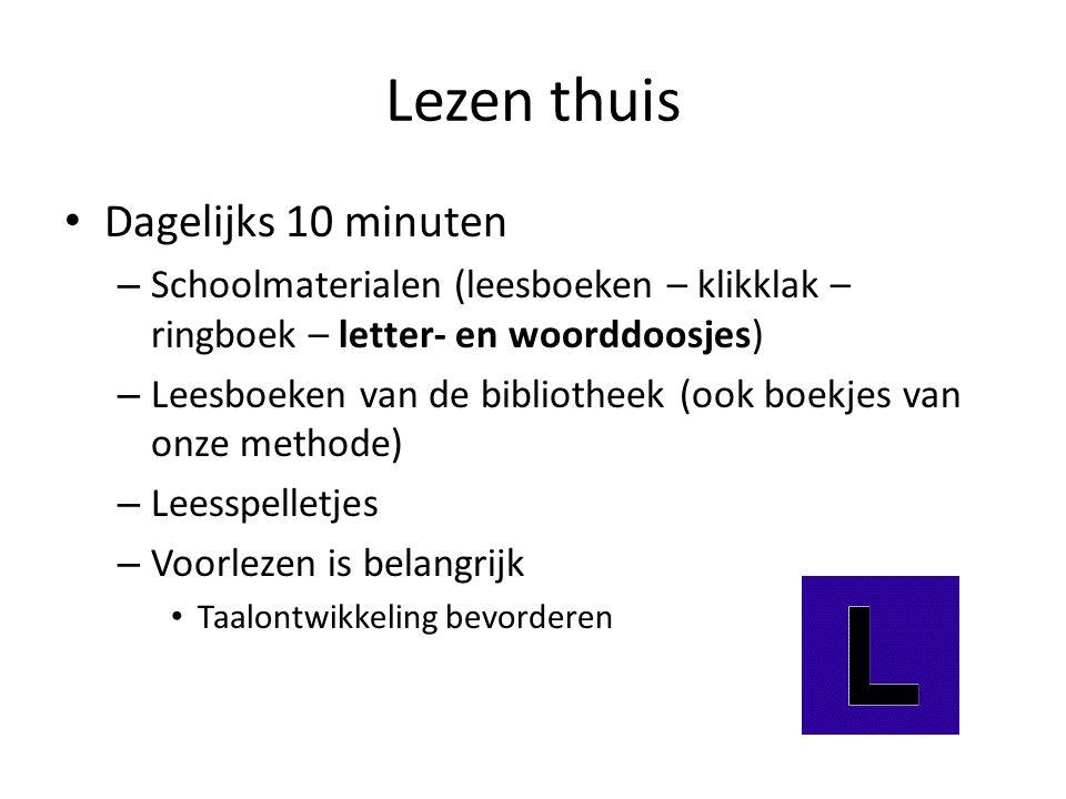 Lezen thuis Dagelijks 10 minuten