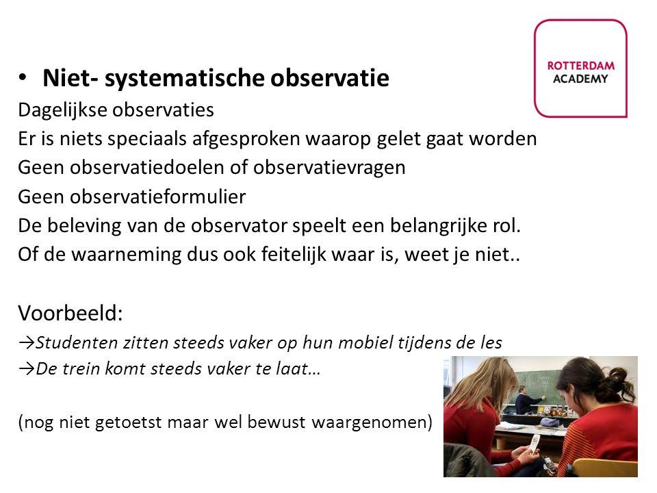 Niet- systematische observatie