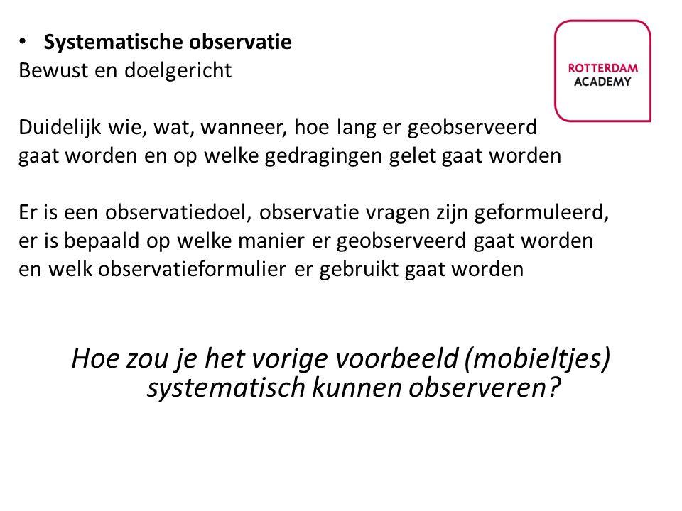 Systematische observatie