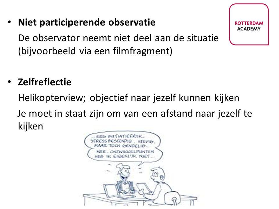 Niet participerende observatie