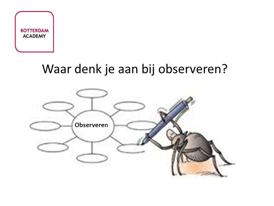 Waar denk je aan bij observeren