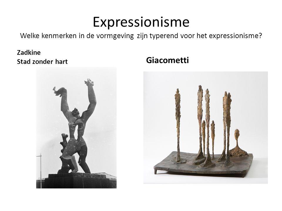 Expressionisme Welke kenmerken in de vormgeving zijn typerend voor het expressionisme