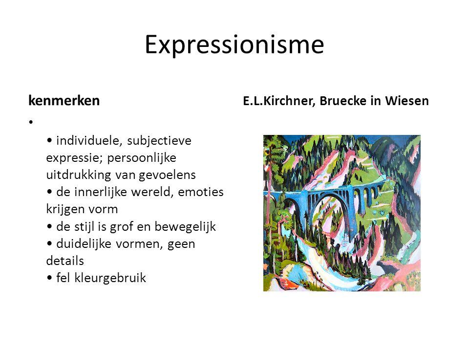 Expressionisme kenmerken E.L.Kirchner, Bruecke in Wiesen