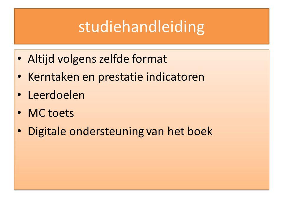 studiehandleiding Altijd volgens zelfde format