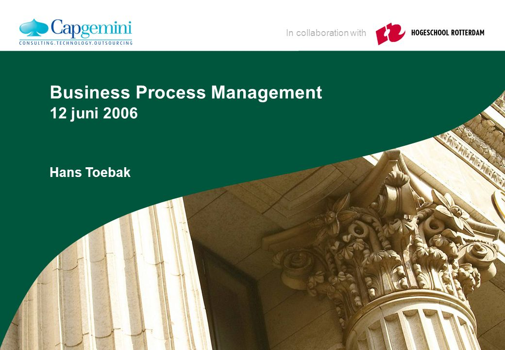 Wie is Hans Toebak Voor Cap: bedrijfseconomie (BIK)