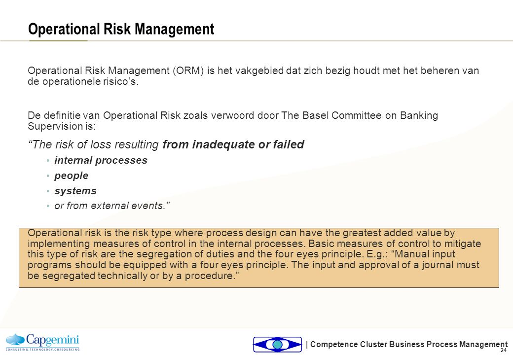 Operational Risk Management