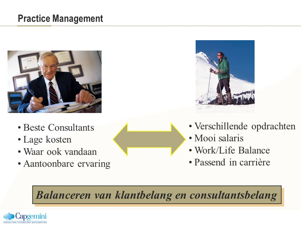 Balanceren van klantbelang en consultantsbelang