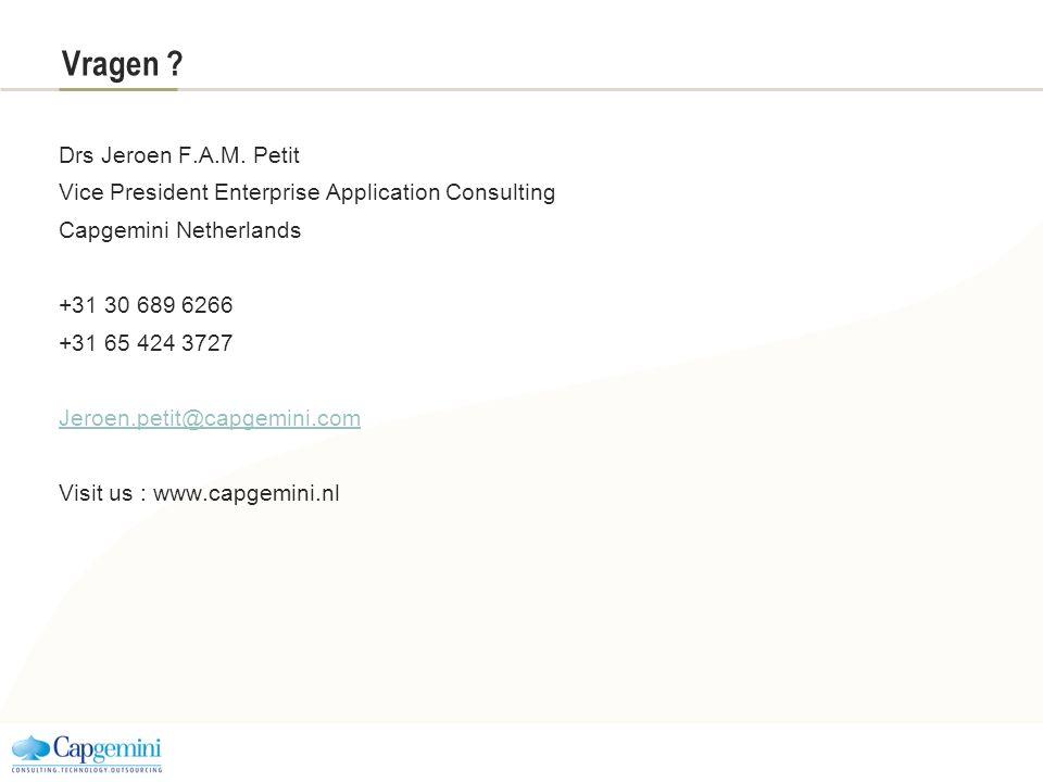 Vragen Drs Jeroen F.A.M. Petit