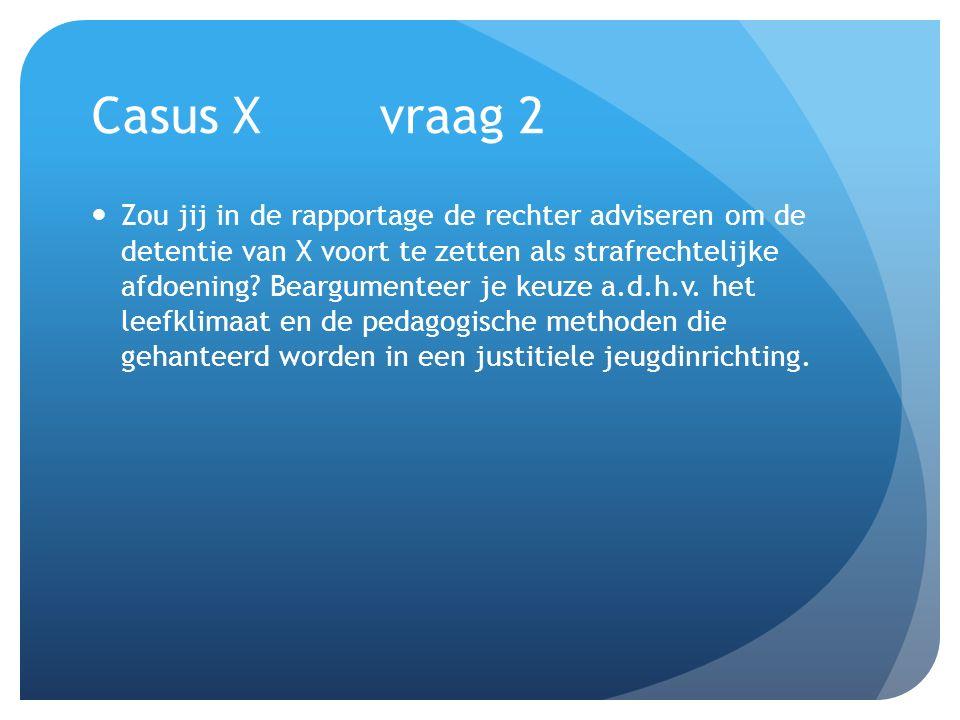 Casus X vraag 2