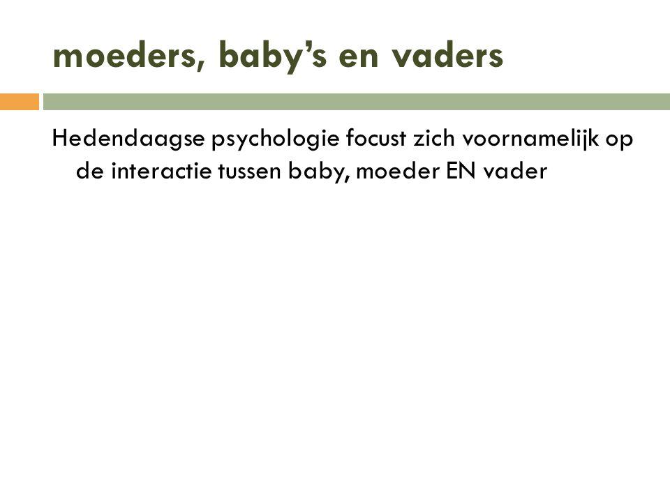 moeders, baby's en vaders