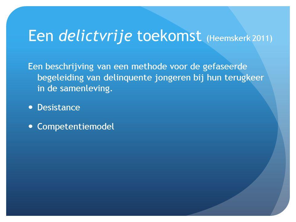 Een delictvrije toekomst (Heemskerk 2011)