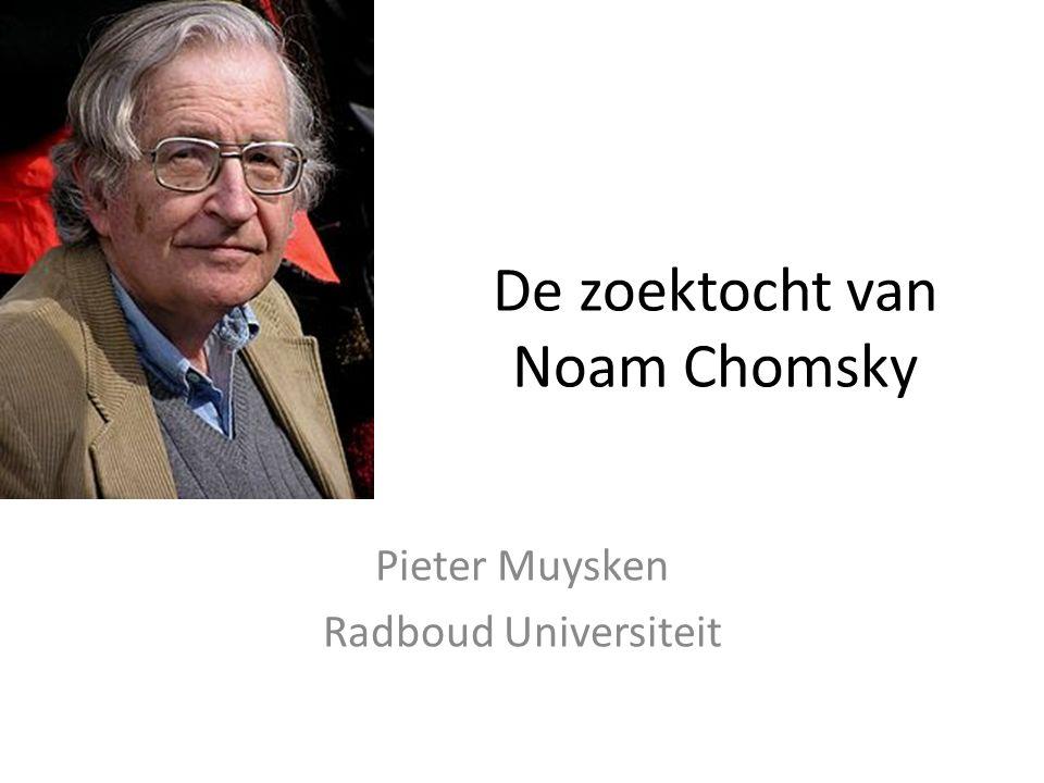 De zoektocht van Noam Chomsky