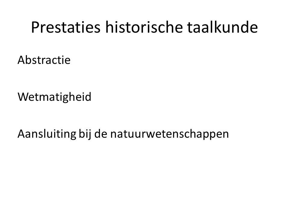 Prestaties historische taalkunde