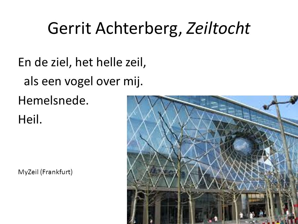 Gerrit Achterberg, Zeiltocht