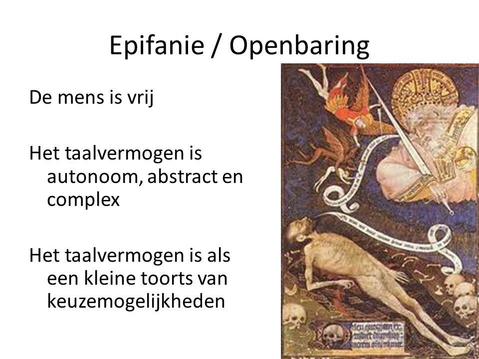 Epifanie / Openbaring