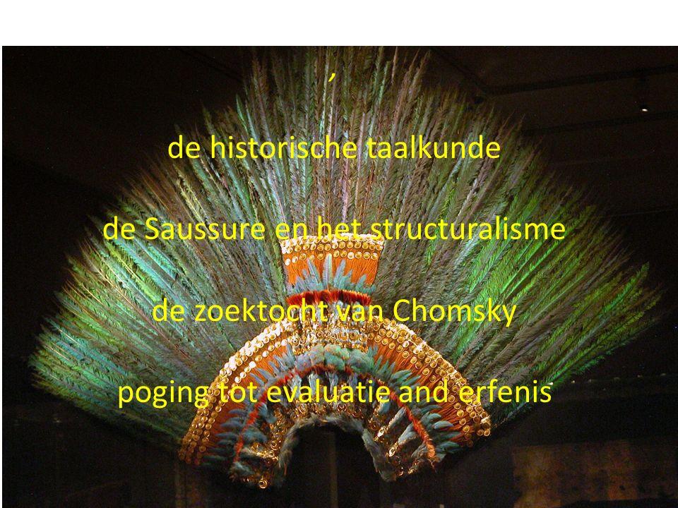 , de historische taalkunde de Saussure en het structuralisme de zoektocht van Chomsky poging tot evaluatie and erfenis