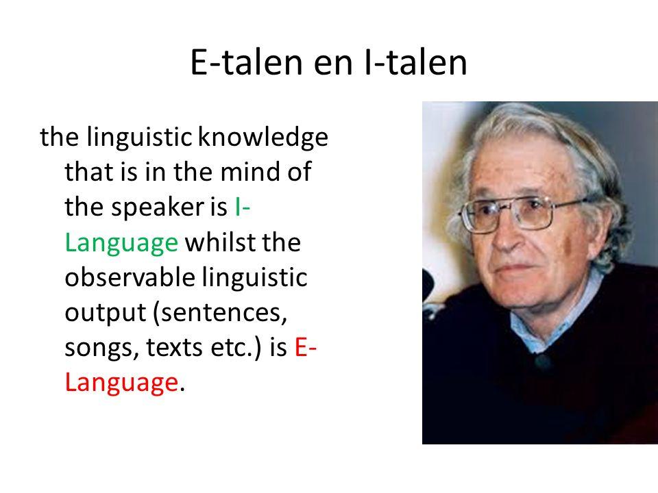 E-talen en I-talen