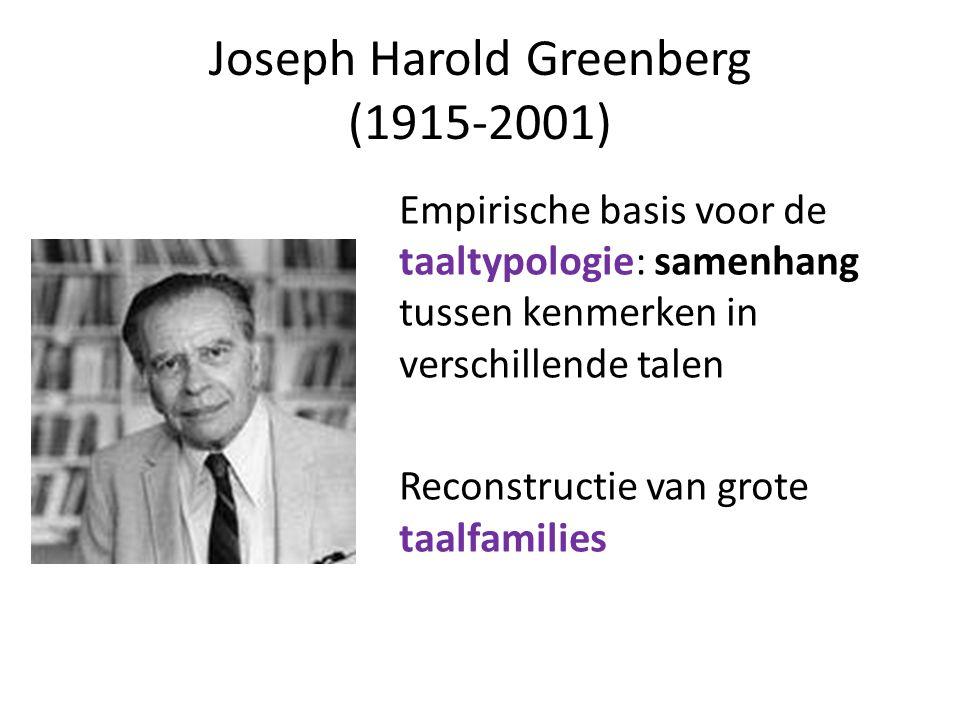Joseph Harold Greenberg (1915-2001)
