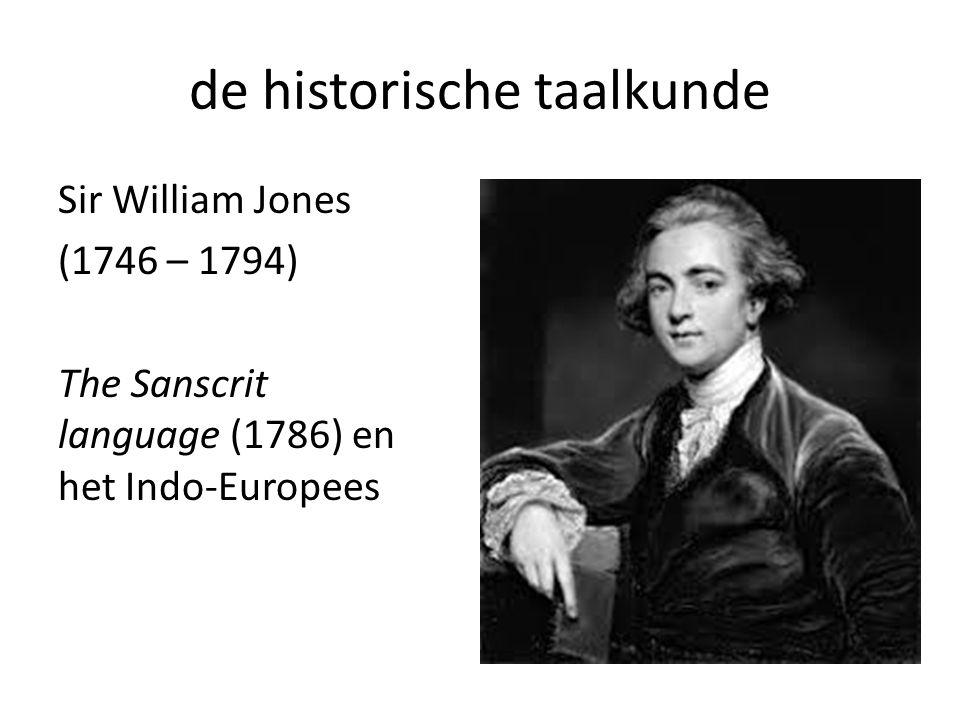 de historische taalkunde