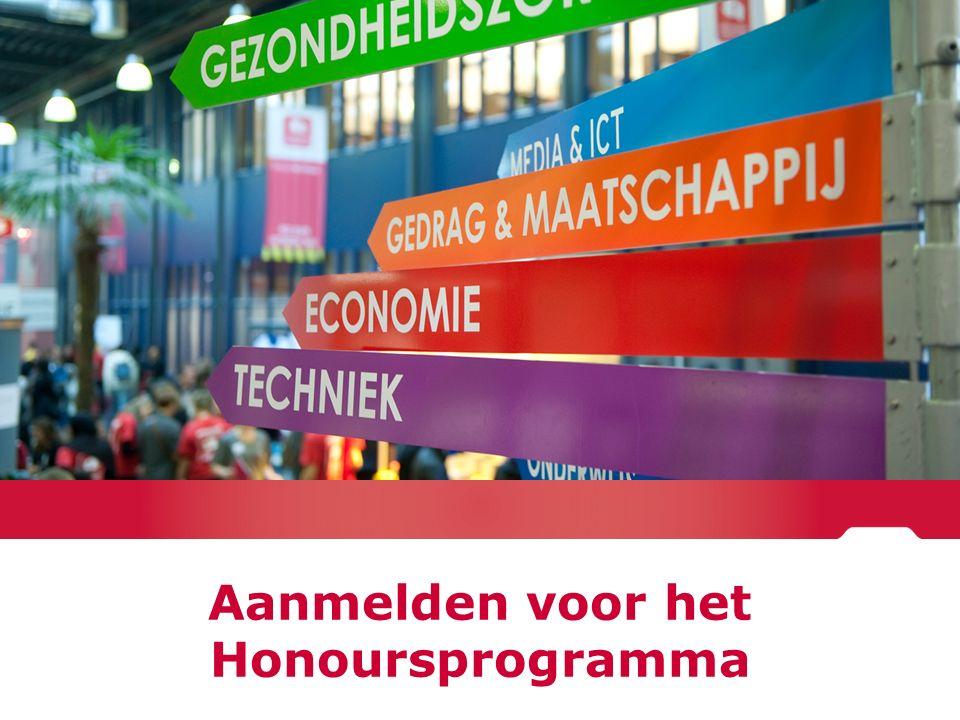 Aanmelden voor het Honoursprogramma