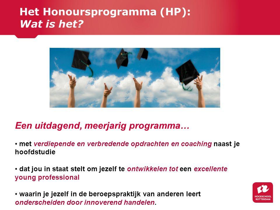 Het Honoursprogramma (HP): Wat is het