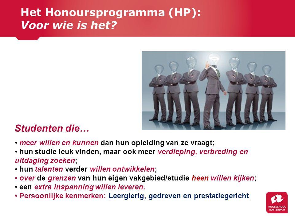 Het Honoursprogramma (HP): Voor wie is het