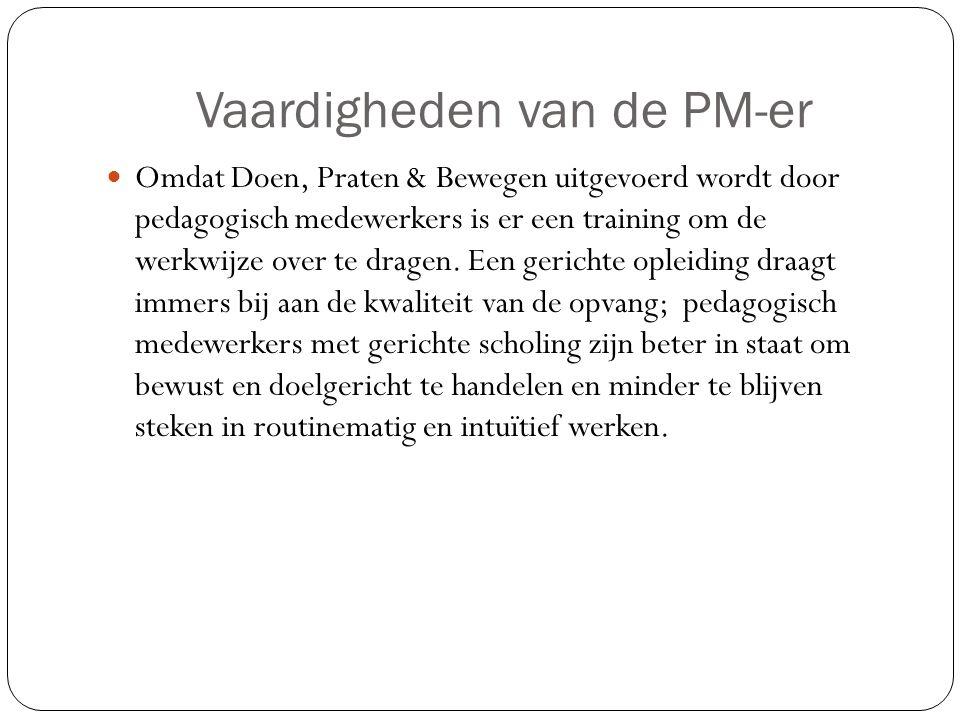 Vaardigheden van de PM-er
