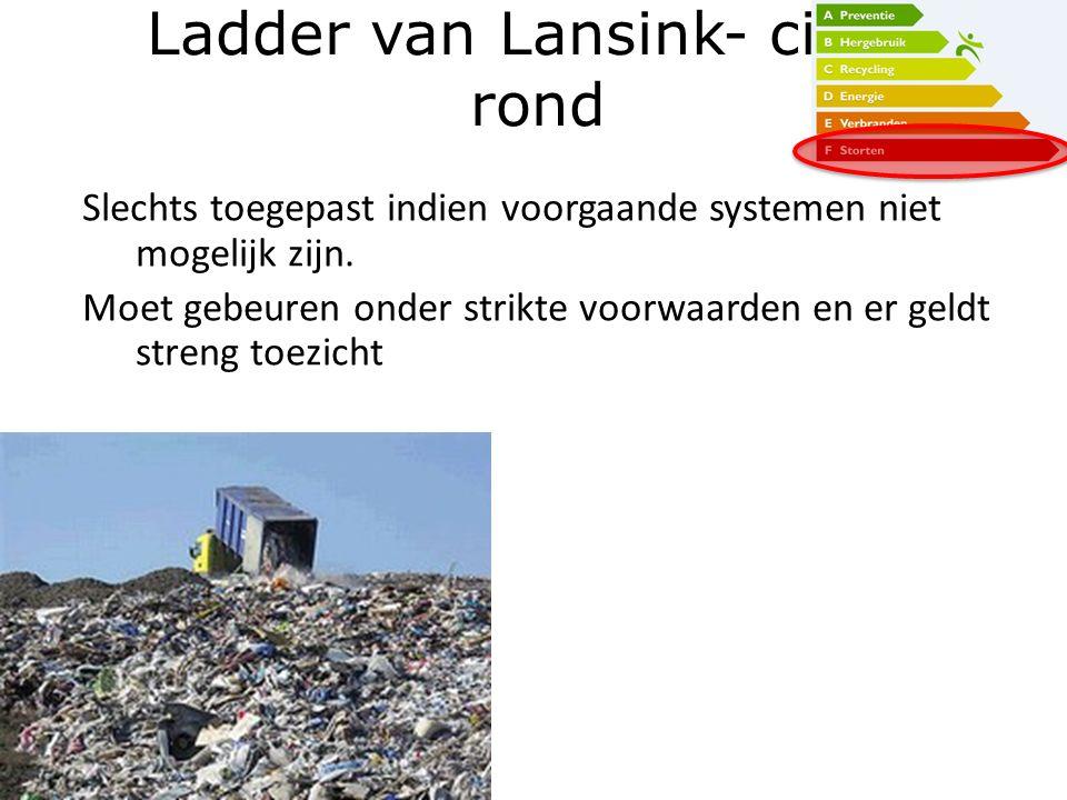 Ladder van Lansink- cirkel rond
