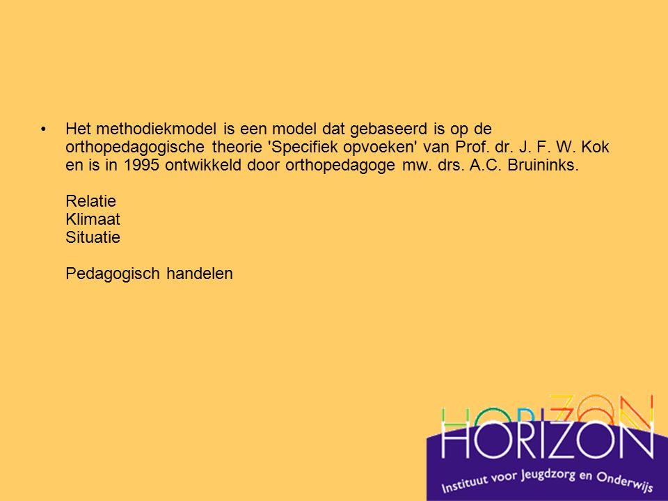 Het methodiekmodel is een model dat gebaseerd is op de orthopedagogische theorie Specifiek opvoeken van Prof.