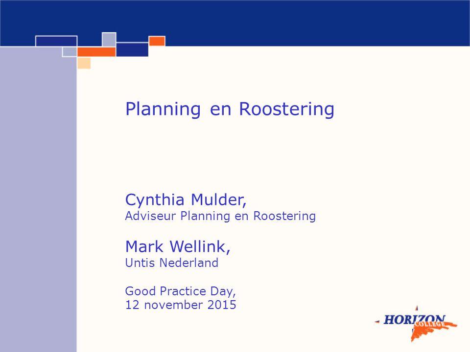 Planning en Roostering