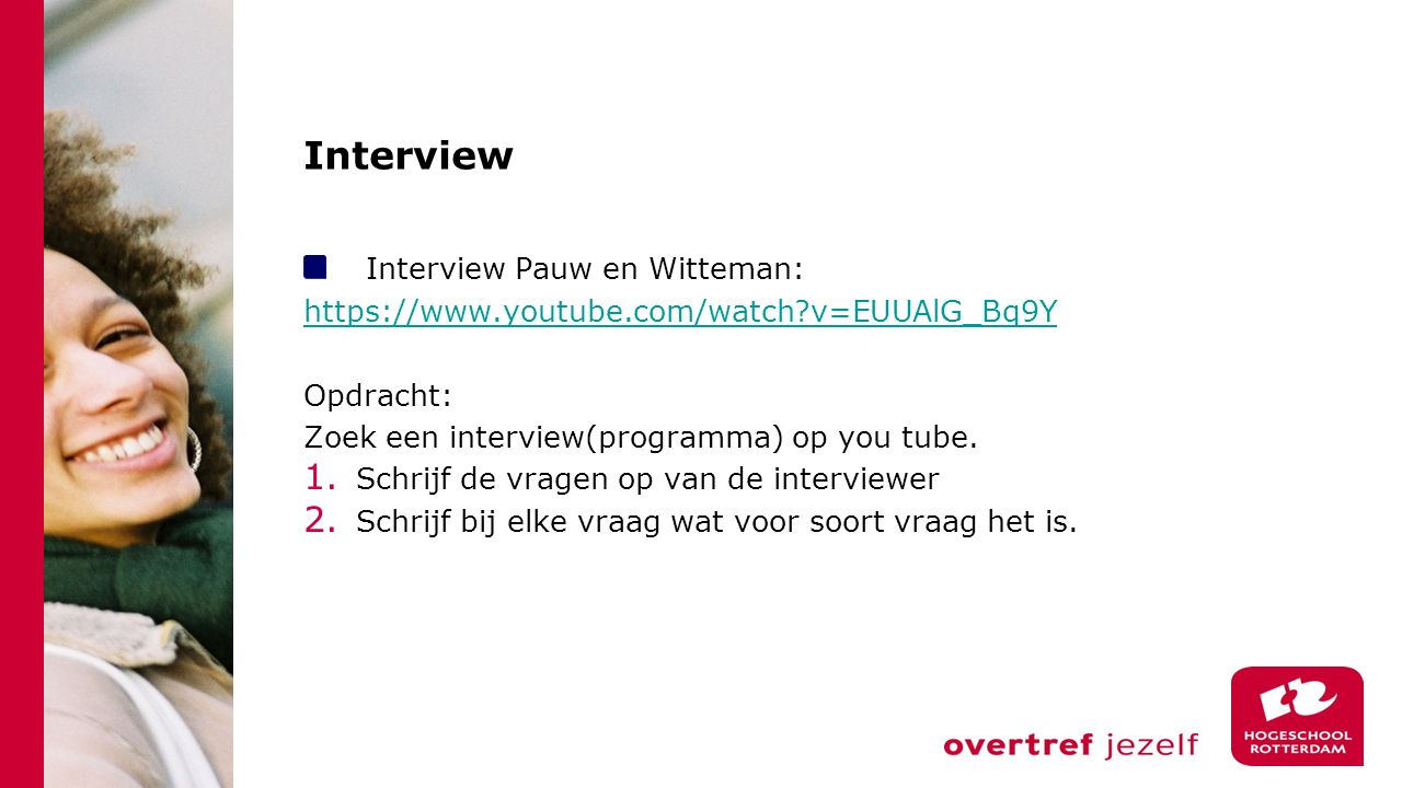 Interview Interview Pauw en Witteman:
