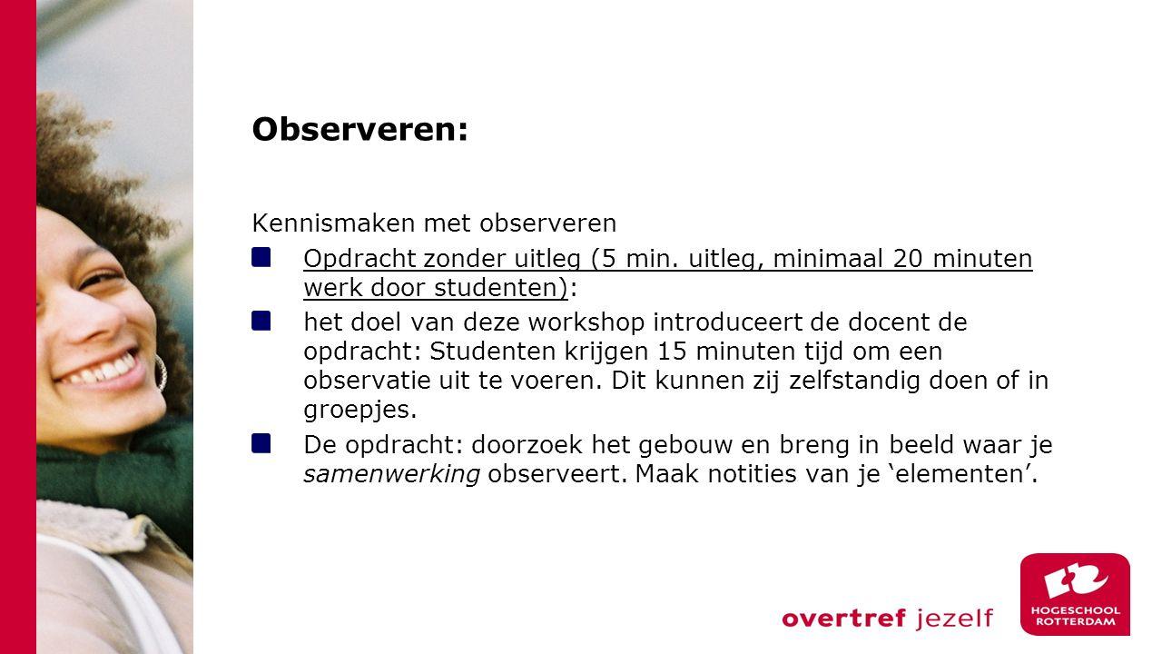 Observeren: Kennismaken met observeren